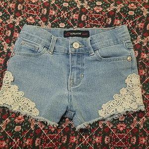 Jordache 3T jean shorts with lace detail